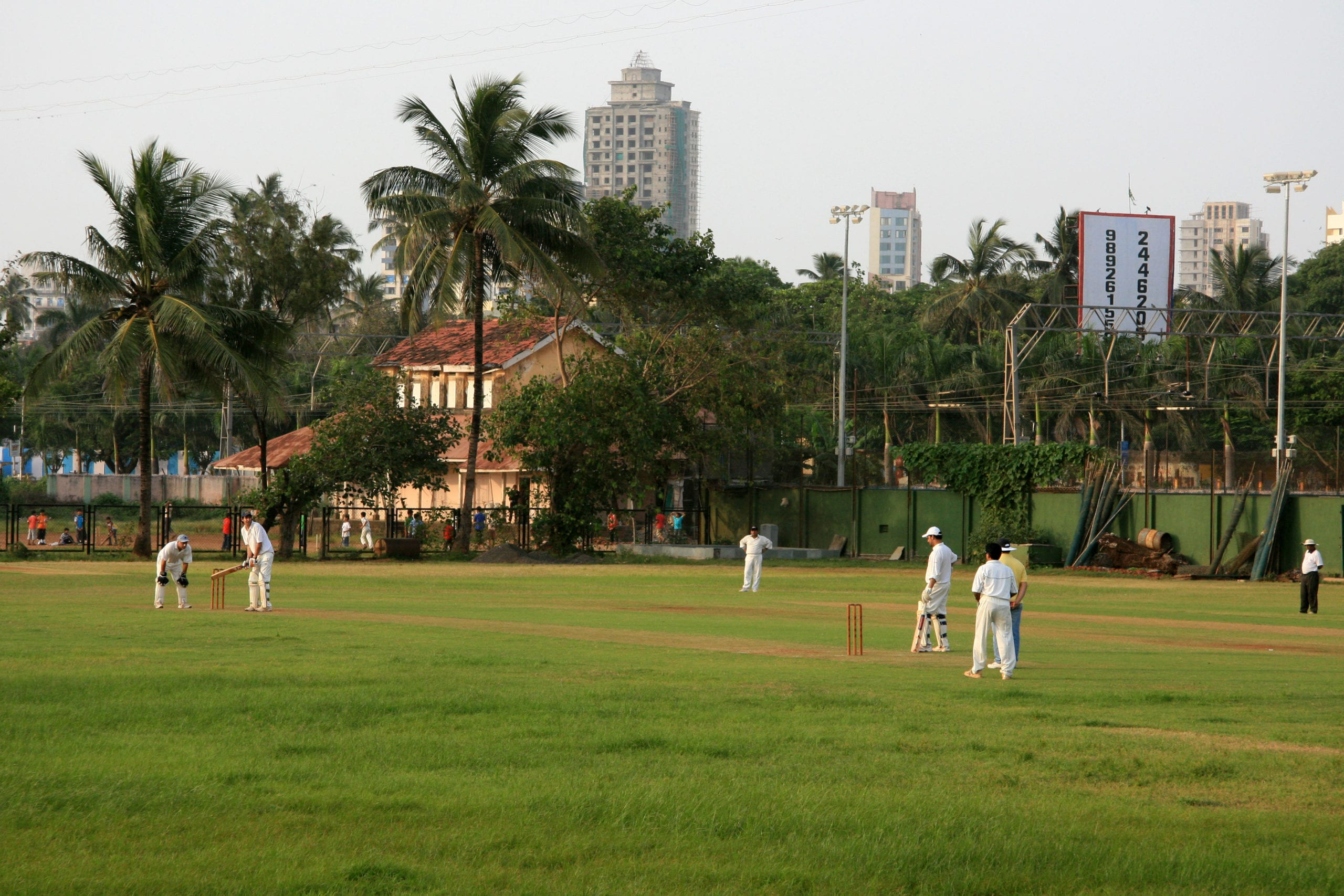 Marine Drive, Mumbai, India cricket match
