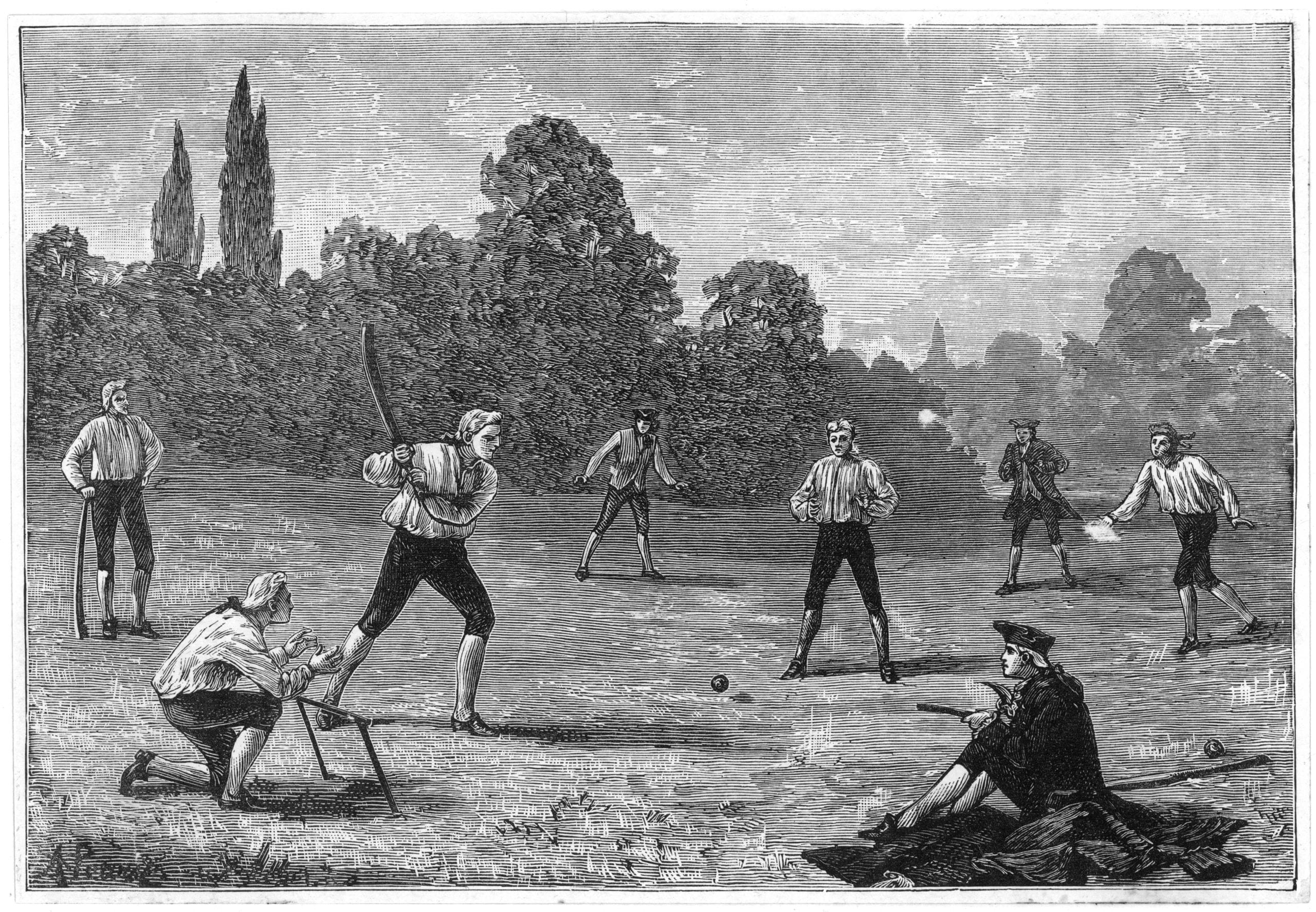Cricket in the 1770s.